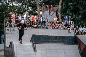 В Анапе в скейт-парке выявляли сильнейших